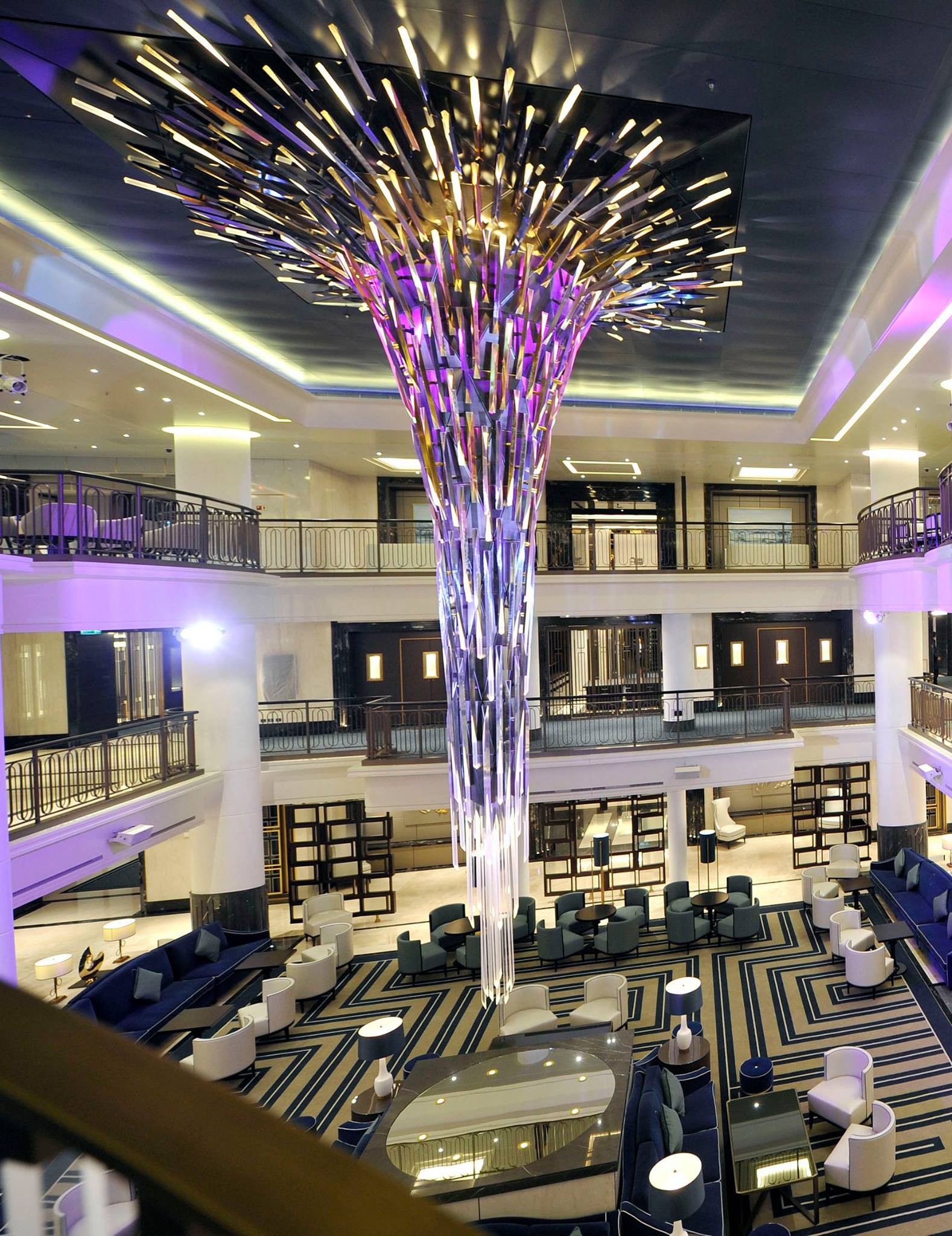 Starburst designed by Jona Hoad, P&O Cruises