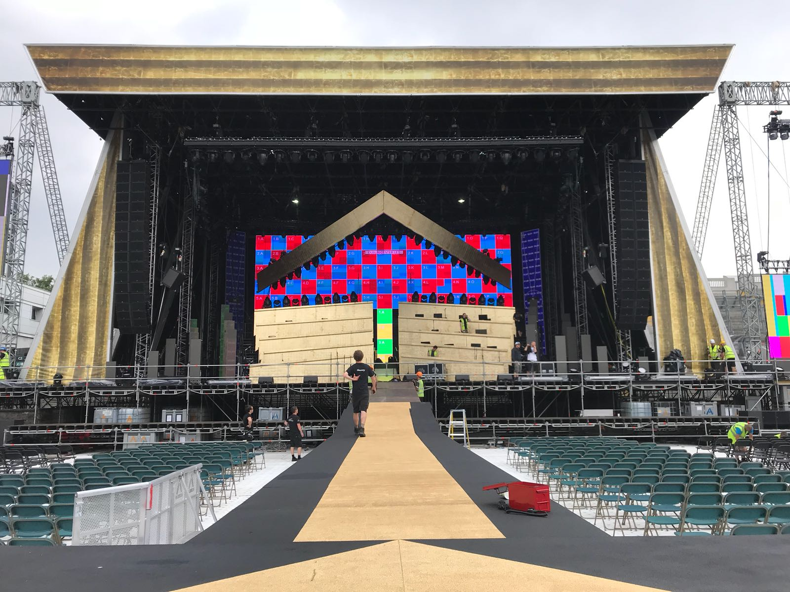 Brilliant Stages provided the main stage, catwalk and B-stage