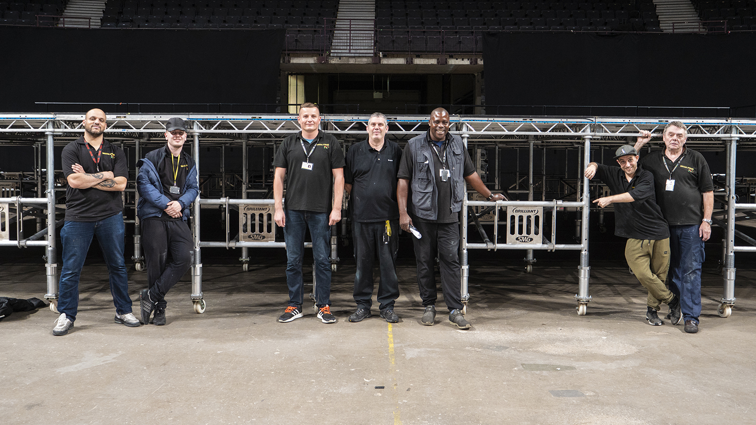 Manchester Arena Rolling House Stage by Brilliant Stages